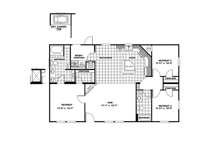 Floorplan infinite value 38slt28443ah clayton homes for Home ideas centre clayton