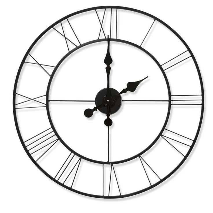 large Metal Clock homemaker