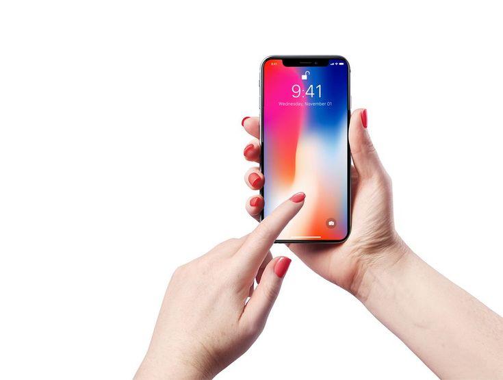 Iphone X In Female Hand Mockups Iphone Iphone Mockup Iphone Mockup Free