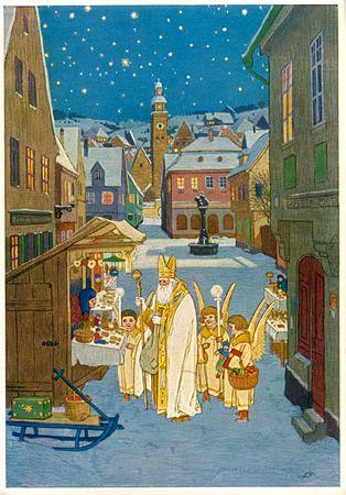 1923 Czech Postcard, St Nicholas Center Collection