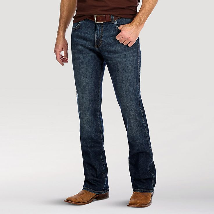 Mens wrangler retro relaxed fit bootcut jean mens