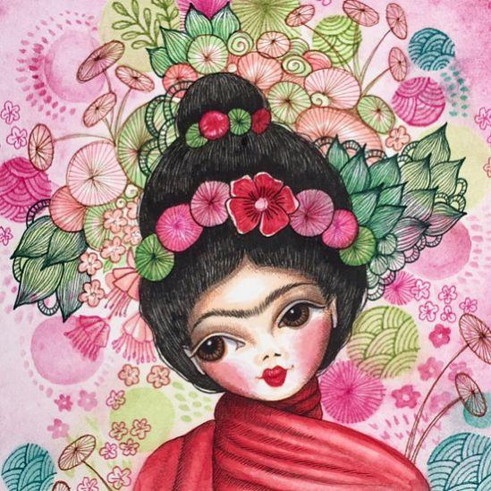 "125 Likes, 4 Comments - Mookoo Design & Illustration (@mookoodesign) on Instagram: ""Frida. #frida #fridakahlo #art #artist #art_we_inspire #artoftheday #artwork #artistsoninstagram…"""