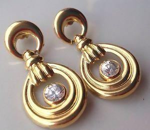Orecchini Pendenti Oro 750/1000 18Kt Con Zirconi | eBay