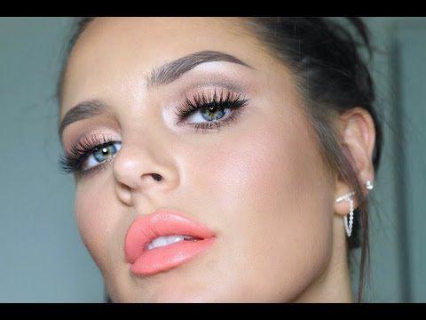 Chloe's ORGASM Makeup Tutorial! Natural Peachy Flush ;-) - YouTube