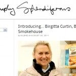 """Simply Splendiferous"" is a food blog written by Ailbhe Phelan. She wrote this blog after meeting Birgitta Hedin Curtin at Bloom in the Park, June 2011."