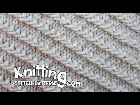 Diagonal Slip Stitch - YouTube