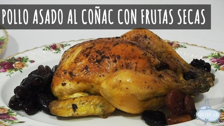 POLLO ASADO AL COÑAC CON FRUTAS SECAS  - Lareiras.gal
