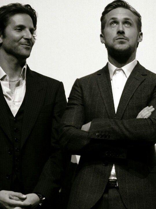 cosas que se encuentran en Pinterest :O Ryan Gosling & Bradley Cooper