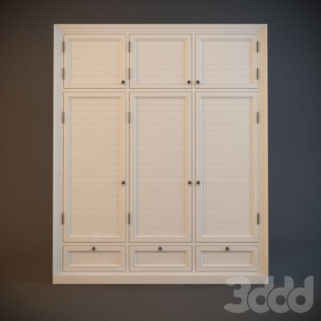 3d модели: Шкафы - Шкаф в стиле прованс, встроенный