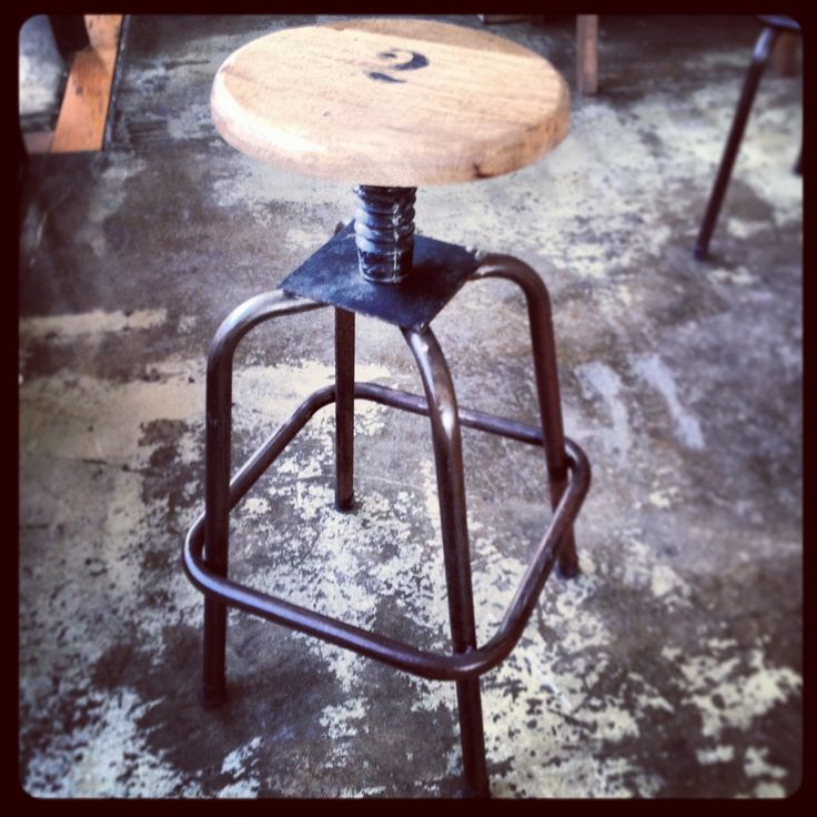 Thumper Industrial Stool - LIMITED STOCK - Canalside Interiors