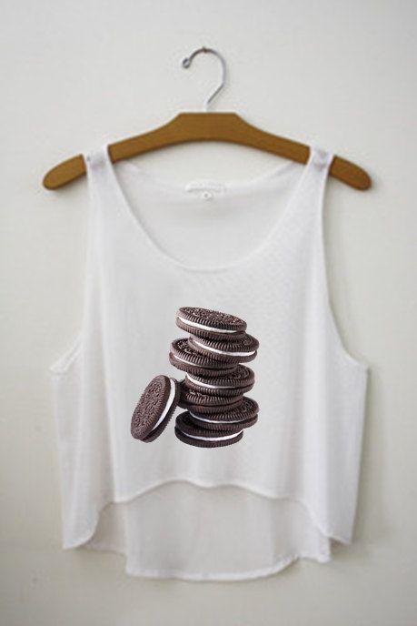 Oreo Tank Crop Top Tumblr Shirt