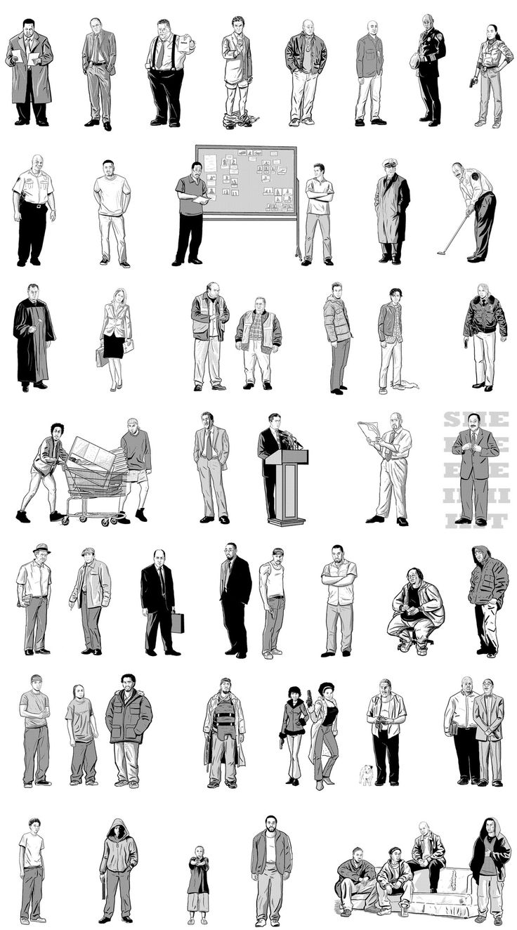 "52 Characters From ""The Wire,"" Illustrated...the greatest tv show ever made."