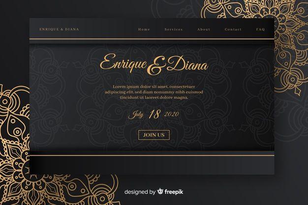 Elegant Wedding Landing Page Free Vector Free Vector