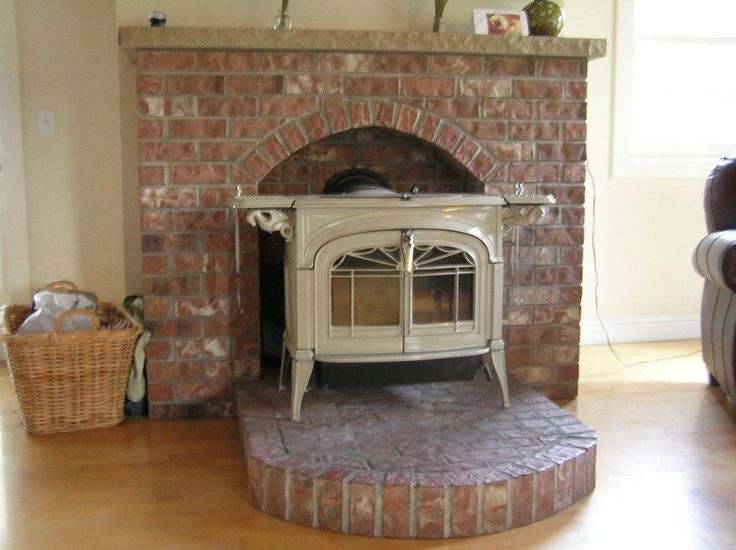 pellet stove brick hearth