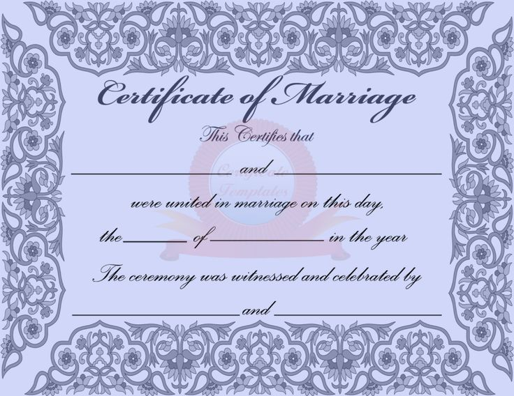 9 best wedding certs images on Pinterest Marriage certificate - marriage certificate template