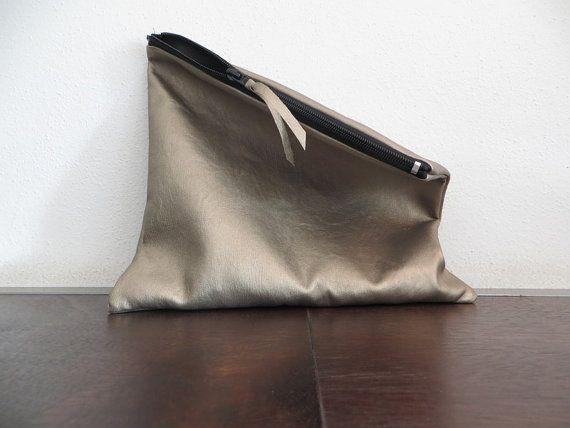 Pochette colore oro in ecopelle borsetta da sera da di piBase