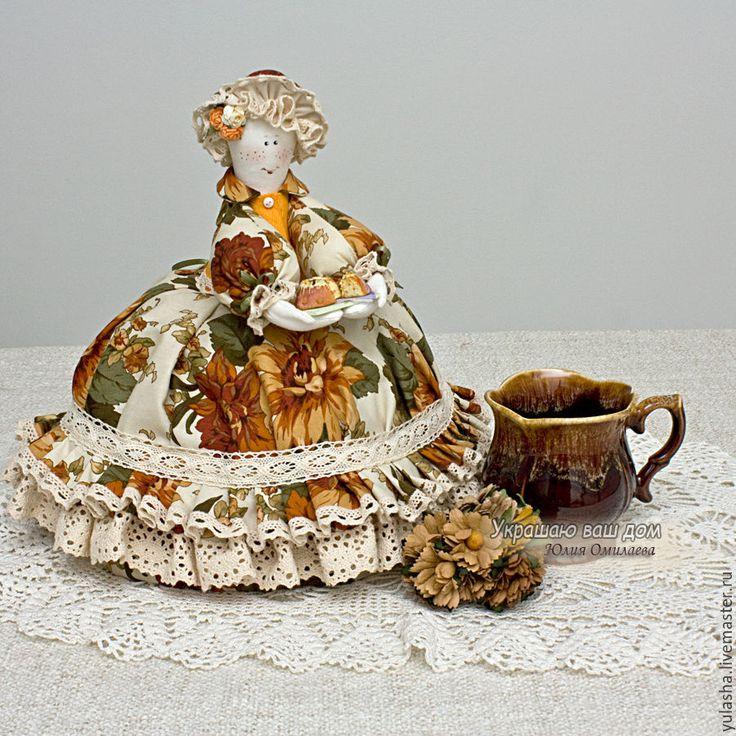 """Купить Грелка на чайник """"Оттенки осени"""" 8 Марта Подарки - грелка для чайника, кукла в подарок"""