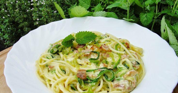 Ala piecze i gotuje: Spaghetti z cukinią ala carbonara