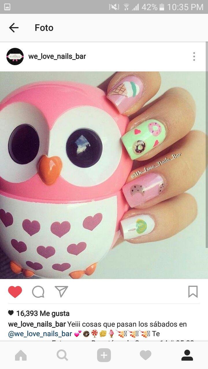 140 besten Disenos Bilder auf Pinterest | Nageldesign, Nagelkunst ...