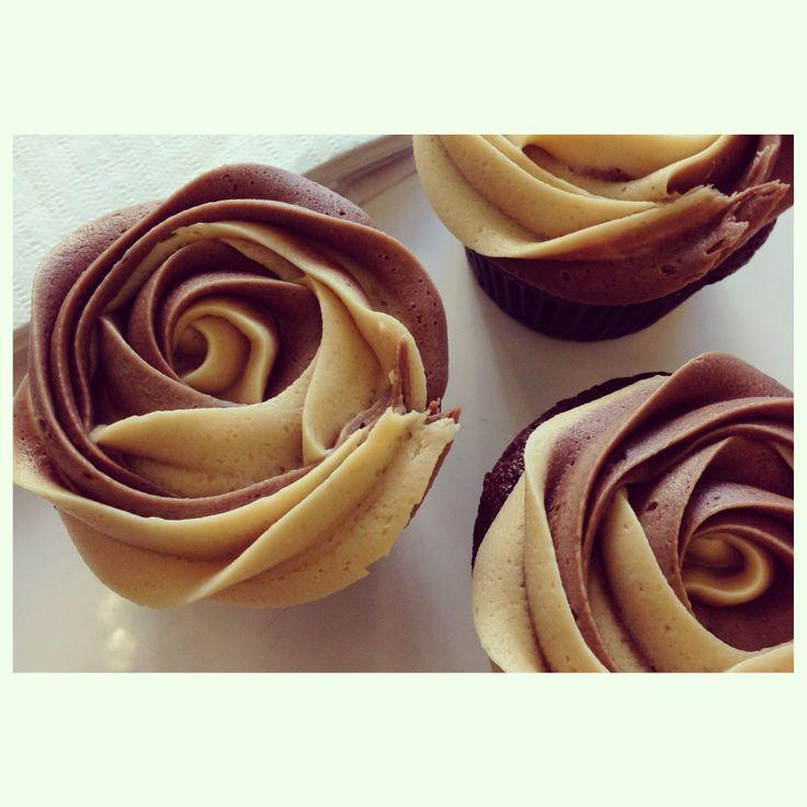 Mocha Cupcakes - Coffee with Chocolate #petalcupcakes #cupcakes