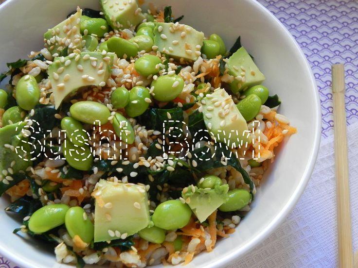 sushi bowl voracious: Edamame Sushi, Kale Salad, Voraci Vander, Sushi Bowls, Wasabi Dresses, Dinners Ideas, Bowls Voraci, Wasabi Sushi, Vegans Sushi
