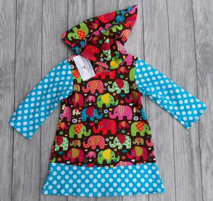 handgemachtes Mädchenkleid - Shirtkleid mit langer Zwergen-Kapuze, Größe 98  Hergestellt aus 92% Baumwolle, 8% Elasthan (Stretchjersey), Ärmellänge 30 cm, Brustweite einfach 30 cm, Gesamtlänge 50 cm.  Dieses Kleid sieht hübsch aus auf einer Jeans oder Leggins.  Das Mädchenkleid ist in Handarbeit gefertigt und hergestellt in Deutschland