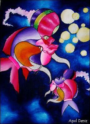 "APRIL DENIZ, ""Pisces Constellation"" 2014, acrylic on canvas."