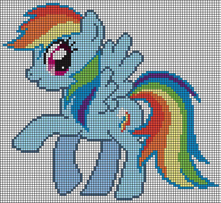 MLP Rainbow Dash Pattern by Jackiekie on deviantART