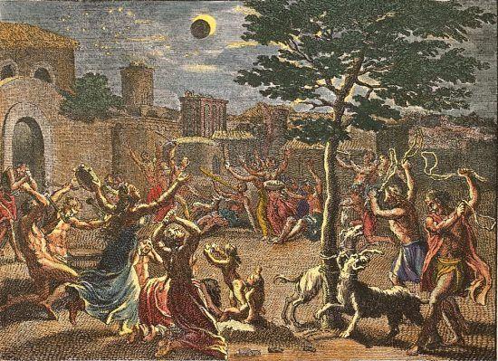 23 septembre 1699 : dernière éclipse de soleil du XVIIe siècle. Illustration : Une éclipse de soleil. Gravure (colorisée) de Bernard Picart (1725)