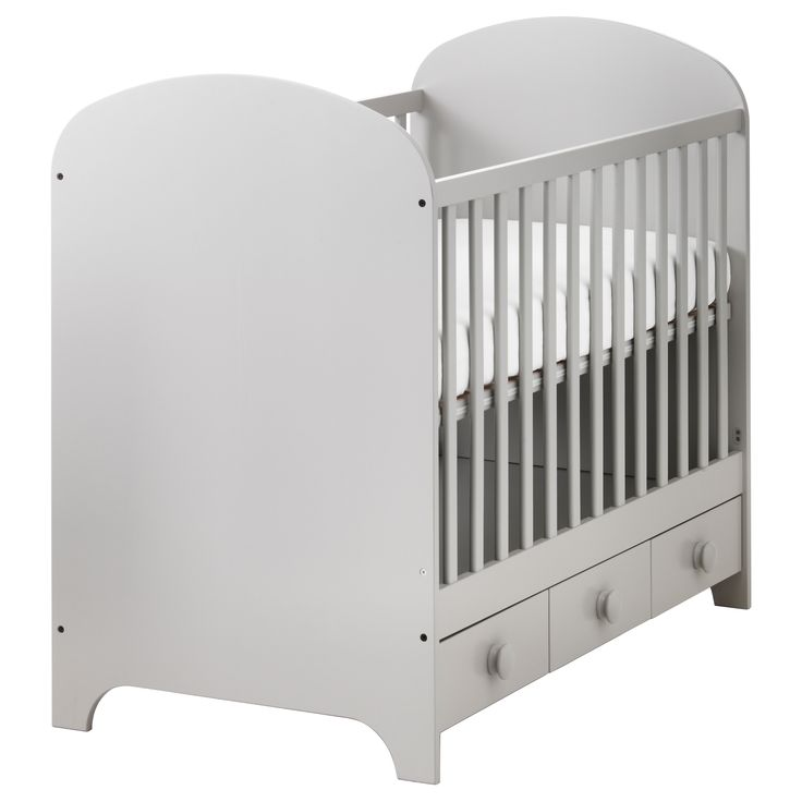 GONATT Crib - IKEA $189 (front rail comes off for toddler bed, then convert into something else later? Paint another color?)