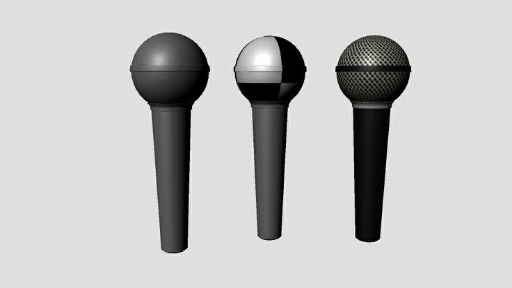 Micrófono: modelado, checker y textura. Por Kelly Huidobro