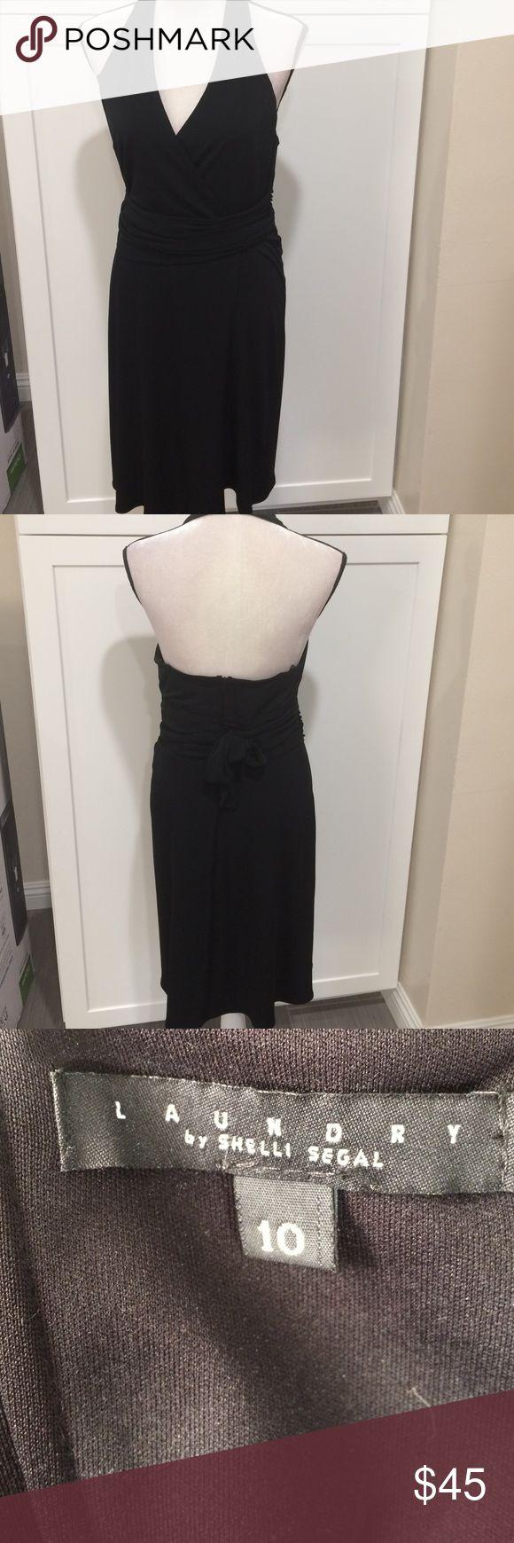 Elegant bareback dress Black elegant bareback wraparound belt Laundry by Shelli Segal Dresses Midi