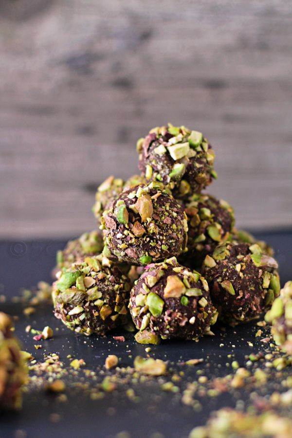 Dark Chocolate Pistachio Truffles | Kleinworth & Co.