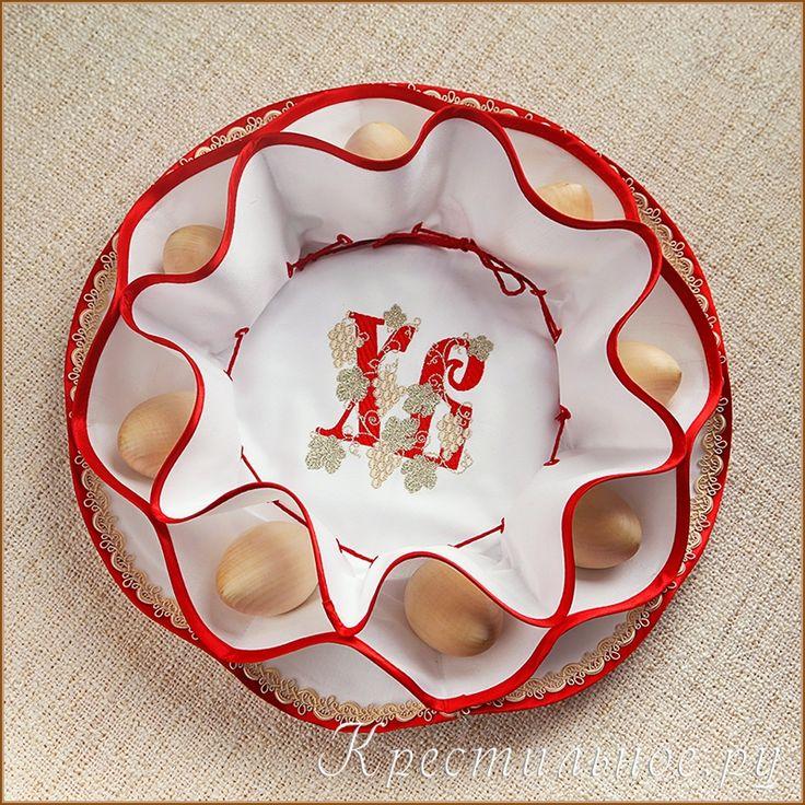 Пасхальница. Оригинальная трехслойная салфетка-пасхальница для кулича и яичек в корзинку или на праздничный стол. Пасхальница выполнена из плотной хлопковой ткани сатинового переплетения, хорошо держит форму.