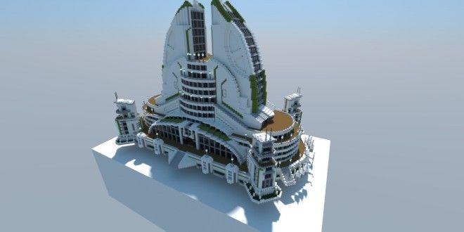 Anno 2070 Recreation 01 Leisure Center minecraft bulding ideas tower amazing render