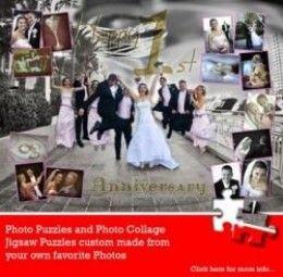 Wedding Anniversary Ideas - Unique Wedding Anniversary Gift Photo Collage Jigsaw Puzzle By sanukmak