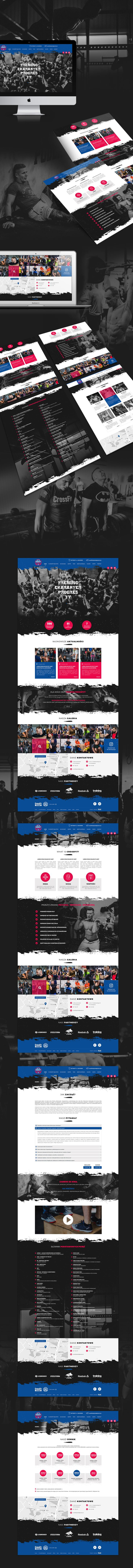 Responsive website for Crossfit, check out more projects http://wiwiagency.com/portfolio/