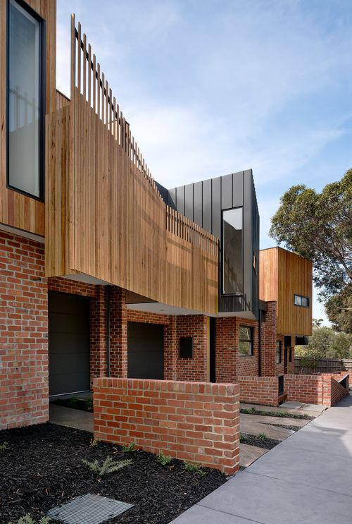green sheep collective townhouses timber screen sustainable architect melbourne…