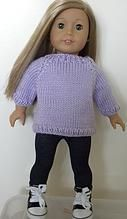 dollie-clothes | Doll Sweater free pattern