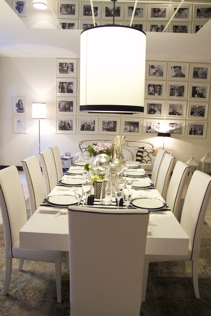 Project by Ana Antunes - Dining Room for all the tv show team - Black & White & Blue
