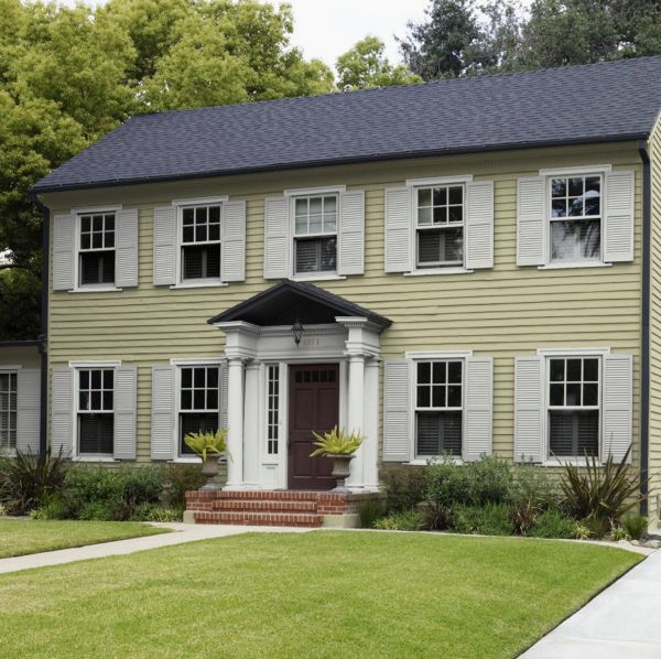 Behr Back To Nature Paint Color Color Of The Year 2020 Colonial House Exteriors Colonial Exterior Exterior House Colors