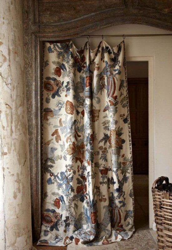 Curtains. Door curtain