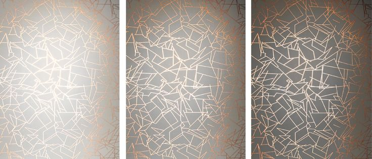 Angles silver white Erica Wakerly wallpaper 'Angles'