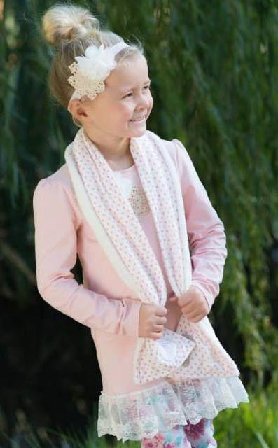 'Coco' Scarf.  'Poppy' Headband and Longsleeve Set. Sizes 1-7