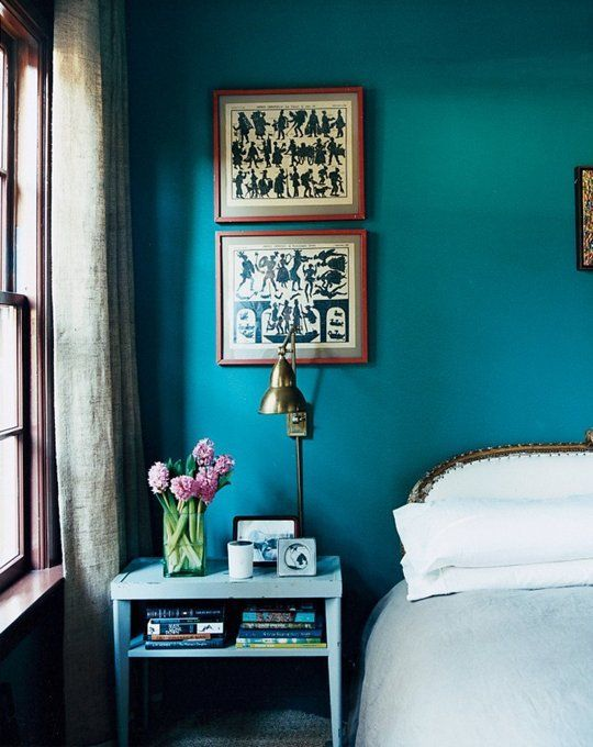 #BoldColorAccents From Beginner to Advanced: 10 Steps to a Better Bedroom. I really like this colour