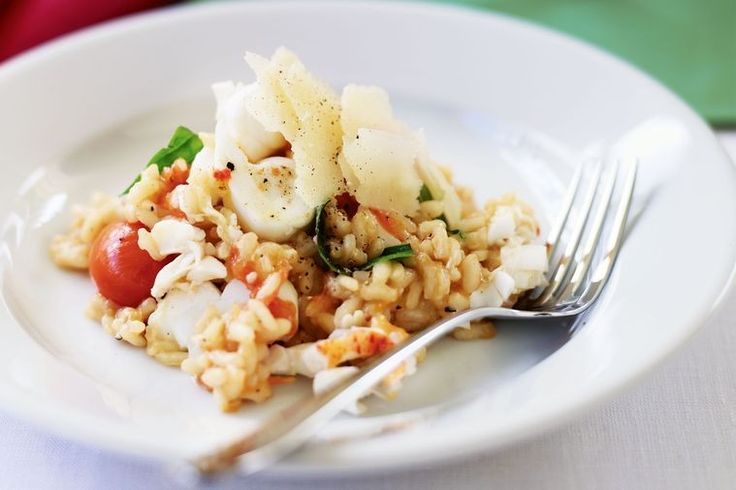 Creamy risotto with luxurious bites of lobster and the fresh pops of tomato.