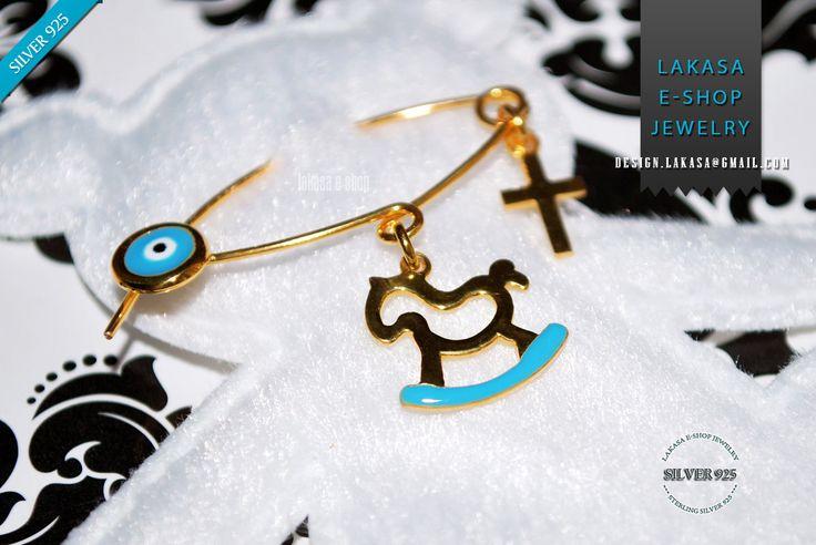 Best price #horse #baby #boy #enamel #brooch #silver #jewelry #motherday #joyas #carousel #pony #mujer #woman #jewellery #μωρο #νεογεννητο #δωρο #παραμανα #καρφιτσα #αγορι #αλογακι Blue Enamel Baby Brooch Pony Carousel Sterling Silver 925 Gold-plated Handmade Jewelry with Cross Enamel Eye Χειροποιητη Καρφιτσα Παραμανα Μωρου Ασημενια 925 Επιχρυση Αλογακι Σμαλτο Γαλαζιο με Σταυρο Ματακι φυλαχτο Ιδεα Δωρο για Νεογεννητα, Μητερα & ημερα βαφτισης τα πρωτα γενεθλια μωρου.  Ελληνικο Χειροποιητο…
