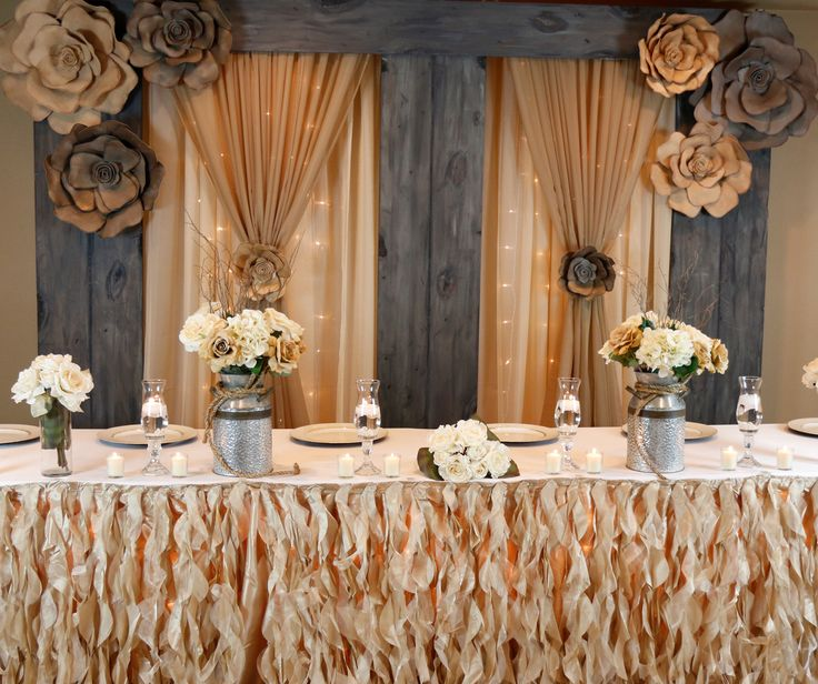 Wedding Head Table Decoration Ideas: 7 Best Wedding Bliss In DIY Country Chic Collection Images