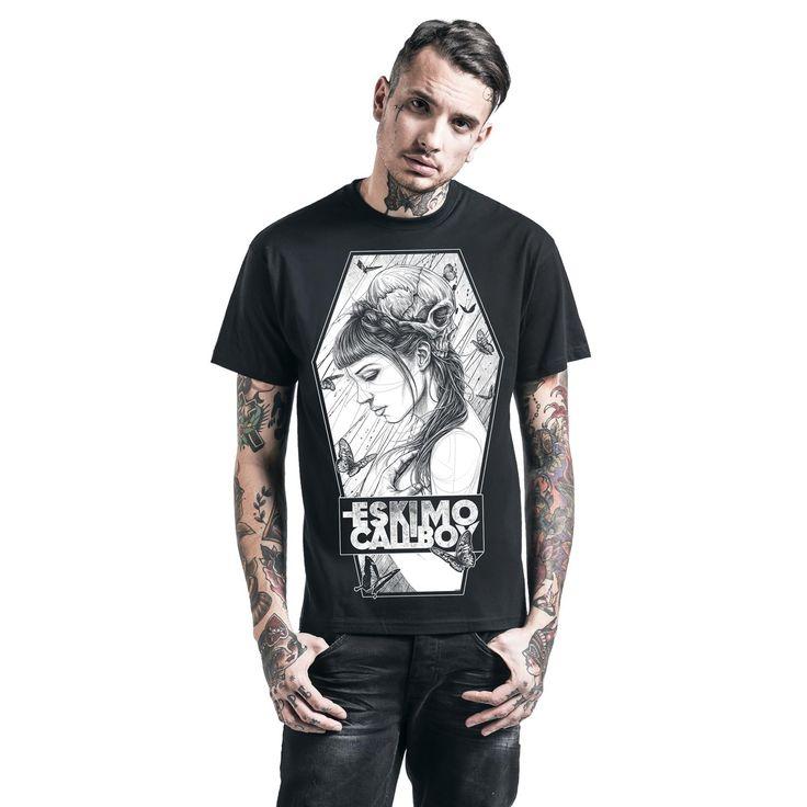 "Classica T-Shirt uomo nera ""Waiting"" degli #EskimoCallboy."