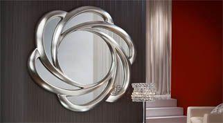15 pines de espejos de pared decorativos que no te puedes for Espejos circulares decorativos